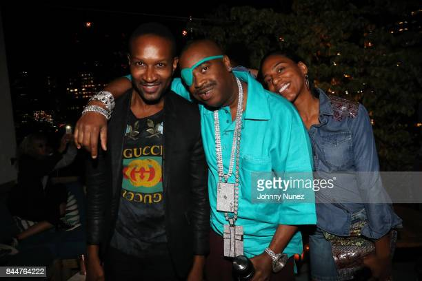 Chris Chambers Slick Rick and Mandy Aragones attend the Future x Flaunt x Reebok Celebration of 'The Eternal Issue Beyond Monuments' at Sixty Soho...