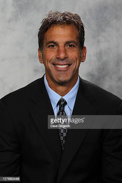 Chris Chelios of the Detroit Red Wings poses for his official headshot for the 20112012 season at Centre Ice Arena on September 16 2011 in Traverse...