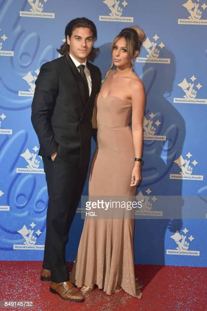 Chris Clark and Amber Dowding arriving at The National Lottery Awards 2017 at The London Studios on September 18 2017 in London England