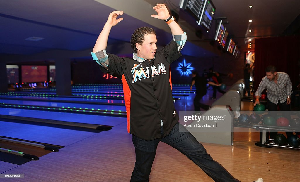 <a gi-track='captionPersonalityLinkClicked' href=/galleries/search?phrase=Chris+Coghlan&family=editorial&specificpeople=4391543 ng-click='$event.stopPropagation()'>Chris Coghlan</a> attends The Miami Marlins Host 7th Annual BaseBowl at Lucky Strike Lanes on February 7, 2013 in Miami Beach, Florida.