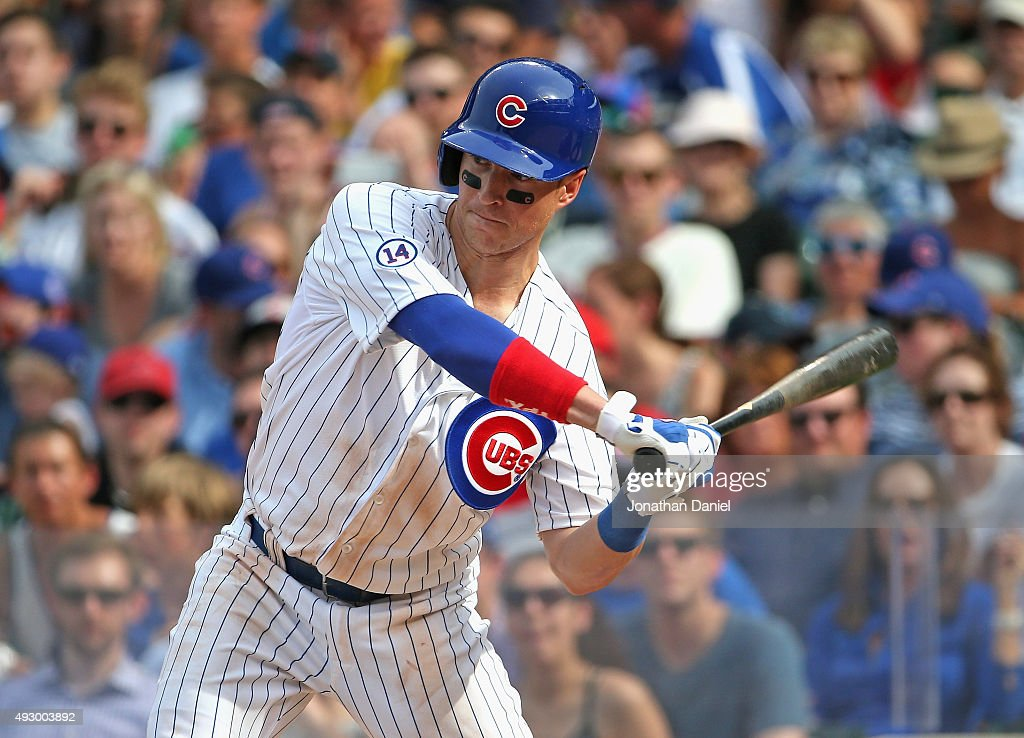 <a gi-track='captionPersonalityLinkClicked' href=/galleries/search?phrase=Chris+Coghlan&family=editorial&specificpeople=4391543 ng-click='$event.stopPropagation()'>Chris Coghlan</a> #8 of the Chicago Cubs bats against the Philadelphia Phiilies at Wrigley Field on July 24, 2015 in Chicago, Illinois. The Phillies defeated the Cubs 5-3 in 10 innings.