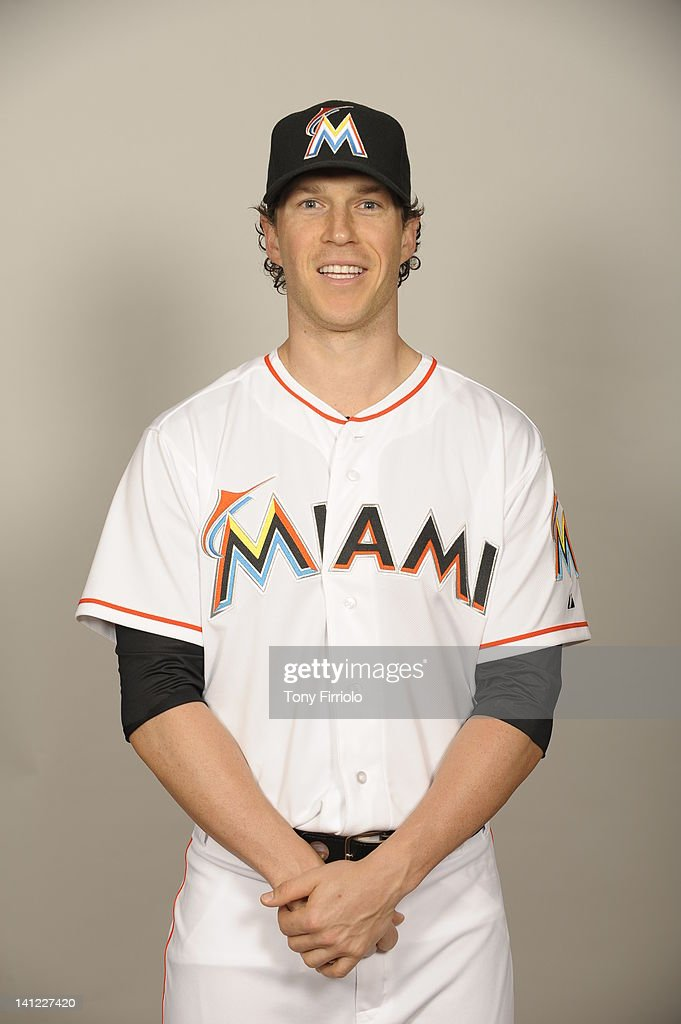 <a gi-track='captionPersonalityLinkClicked' href=/galleries/search?phrase=Chris+Coghlan&family=editorial&specificpeople=4391543 ng-click='$event.stopPropagation()'>Chris Coghlan</a> (8) of the Miami Marlins poses during Photo Day on Monday, February 27, 2012 at Roger Dean Stadium in Jupiter, Florida.