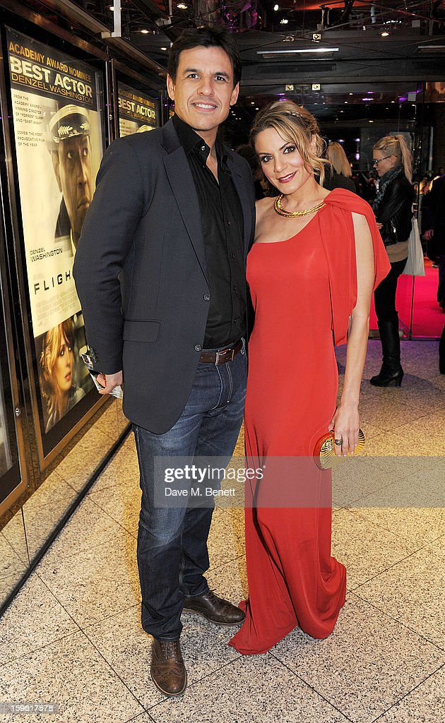 Chris Coleman (L) and Charlotte Jackson attend the UK Premiere of 'Flight' at the the Empire Leicester Square on January 17, 2013 in London, England.