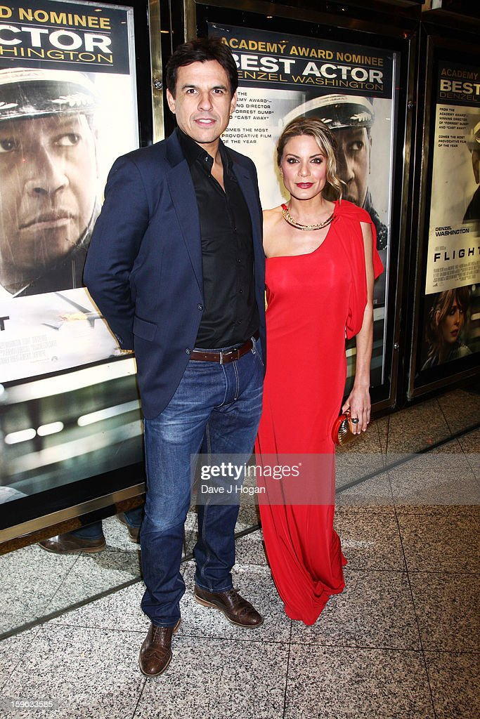 Chris Coleman and Charlotte Jackson attend the UK premiere of 'Flight' at The Empire Leicester Square on January 17, 2013 in London, England.