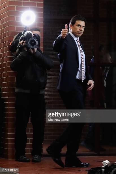 Chris Coleman manager of Sunderland arrives ahead of the Sky Bet Championship match between Aston Villa and Sunderland at Villa Park on November 21...