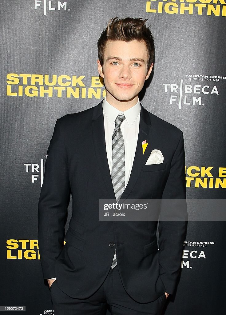 Chris Colfer attends the 'Struck By Lighting' premiere held at Mann Chinese 6 on January 6, 2013 in Los Angeles, California.