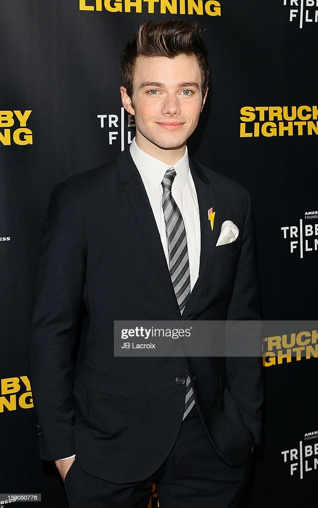 Chris Colfer attends the 'Struck By Lightning' premiere held at Mann Chinese 6 on January 6, 2013 in Los Angeles, California.