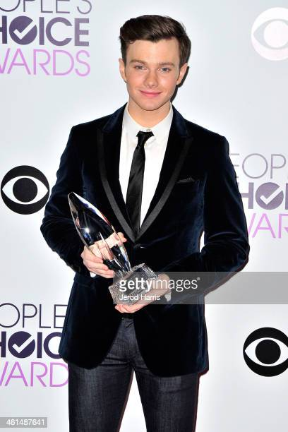 Chris Colfer backstage at the 40th Annual People's Choice Awards Press Room at Nokia Theatre LA Live on January 8 2014 in Los Angeles California