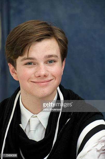 Chris Colfer on the set of 'Glee' at Paramount Studios on July 20 2009 in Los Angeles California