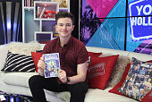 Chris Colfer Visits Young Hollywood Studio