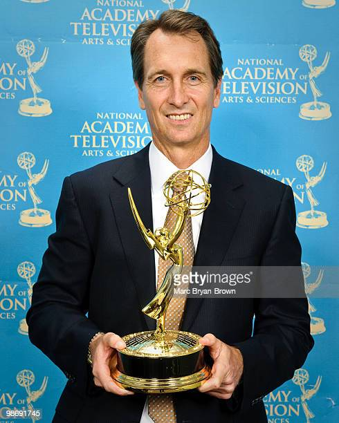 Chris Collinsworth winner for Outstanding Sports Personality SPORTS EVENT ANALYST attends 31st annual Sports Emmy Awards at Frederick P Rose Hall...