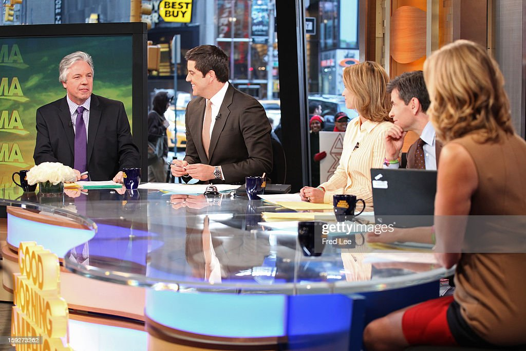 AMERICA - Chris Connelly and Jess Cagle discuss Oscar nomination on 'Good Morning America,' 1/10/13, airing on the ABC Television Network. (Photo by Fred Lee/ABC via Getty Images)CHRIS