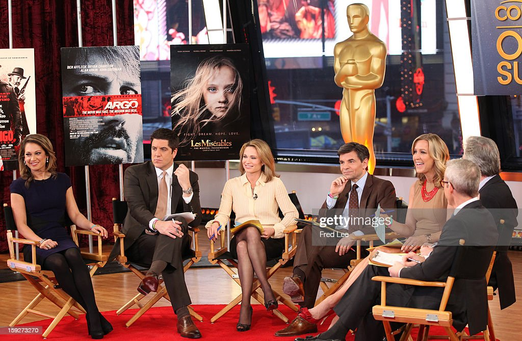 AMERICA - Chris Connelly and Jess Cagle discuss Oscar nomination on 'Good Morning America,' 1/10/13, airing on the ABC Television Network. (Photo by Fred Lee/ABC via Getty Images)GINGER