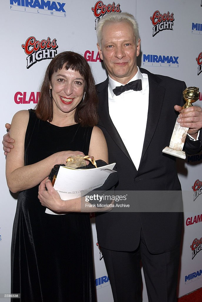 Chris Cooper and wife Marianne Leone arrive at the Miramax Films party following the 60th Annual Golden Globe Awards at the Beverly Hilton Hotel in...