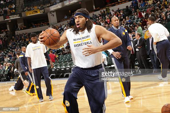 Chris Copeland of the Indiana Pacers before the game against the Orlando Magic on March 10 2015 at Bankers Life Fieldhouse in Indianapolis Indiana...