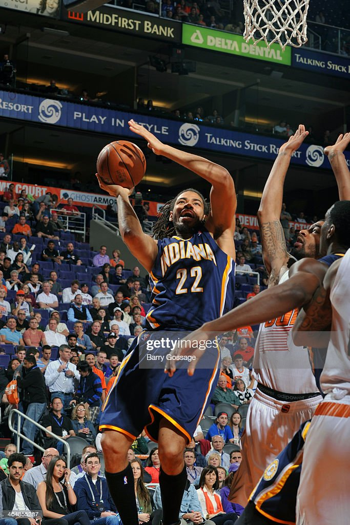 <a gi-track='captionPersonalityLinkClicked' href=/galleries/search?phrase=Chris+Copeland&family=editorial&specificpeople=833969 ng-click='$event.stopPropagation()'>Chris Copeland</a> #22 of the Indiana Pacers drives to the basket against the Phoenix Suns on January 22, 2014 at U.S. Airways Center in Phoenix, Arizona.