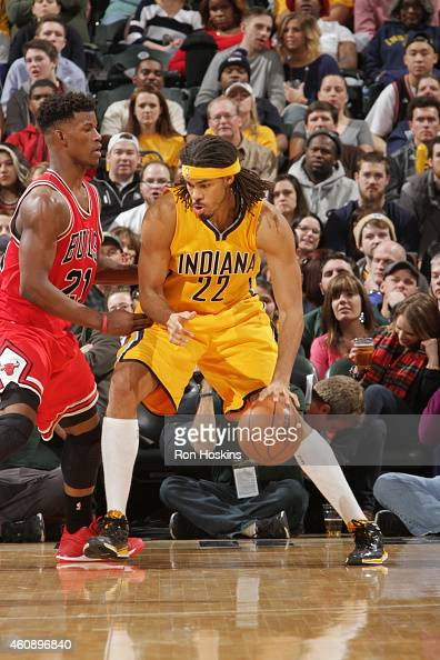 Chris Copeland of the Indiana Pacers handles the ball against the Chicago Bulls on December 29 2014 at Bankers Life Fieldhouse in Indianapolis...