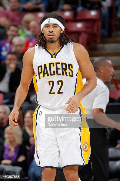 Chris Copeland of the Indiana Pacers stands on the court during the game against the Sacramento Kings on December 5 2014 at Sleep Train Arena in...