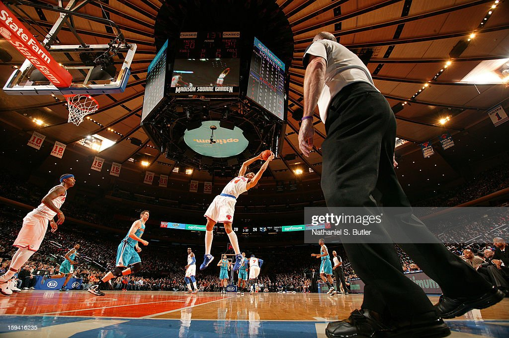 <a gi-track='captionPersonalityLinkClicked' href=/galleries/search?phrase=Chris+Copeland&family=editorial&specificpeople=833969 ng-click='$event.stopPropagation()'>Chris Copeland</a> #14 of the New York Knicks goes to the basket during the game between the New Orleans Hornets and the New York Knicks on January 13, 2013 at Madison Square Garden in New York City.