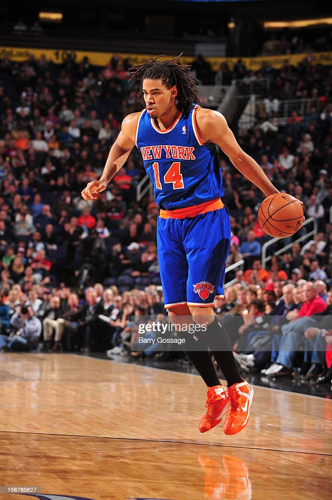 <a gi-track='captionPersonalityLinkClicked' href=/galleries/search?phrase=Chris+Copeland&family=editorial&specificpeople=833969 ng-click='$event.stopPropagation()'>Chris Copeland</a> #14 of the New York Knicks looks to shoot against the Phoenix Suns on December 26, 2012 at U.S. Airways Center in Phoenix, Arizona.