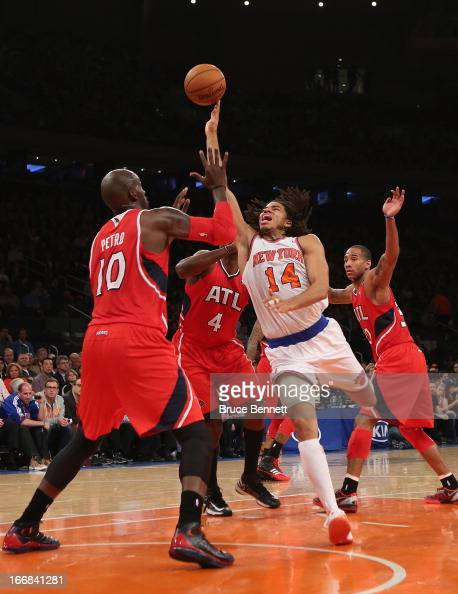 Chris Copeland of the New York Knicks scores two in the fourth and ended the game with a team high of 33 against the Atlanta Hawks at Madison Square...