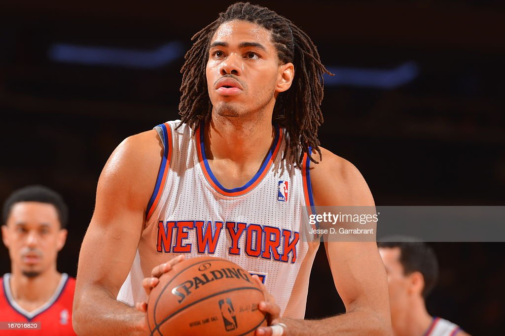 Chris Copeland #14 of the New York Knicks shoots a free throw against the Atlanta Hawks on April 17, 2013 at Madison Square Garden in New York City, New York.