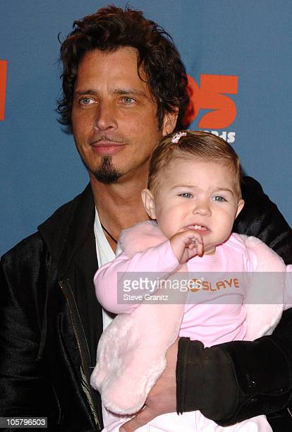 Chris Cornell and Daughter Toni Cornell during VH1 Big in '05 Arrivals at Sony Studios in Culver City California United States