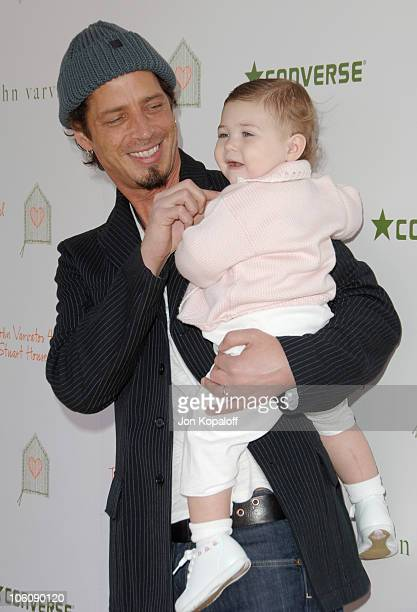 Chris Cornell and daughter Toni during The John Varvatos 4th Annual Stuart House Charity Benefit Arrivals at John Varvatos Boutique in West Hollywood...