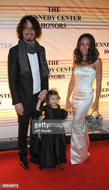 Chris Cornell and family attend the 31st Annual Kennedy Center Honors at the Hall of States in the John F Kennedy Center for the Performing Arts on...