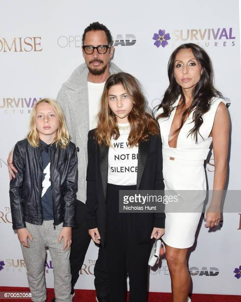 Chris Cornell and Family attend the New York Screening of 'The Promise' at The Paris Theatre on April 18 2017 in New York City