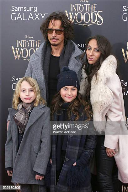 Chris Cornell and family attends the 'Into The Woods' World Premiere at Ziegfeld Theater on December 8 2014 in New York City