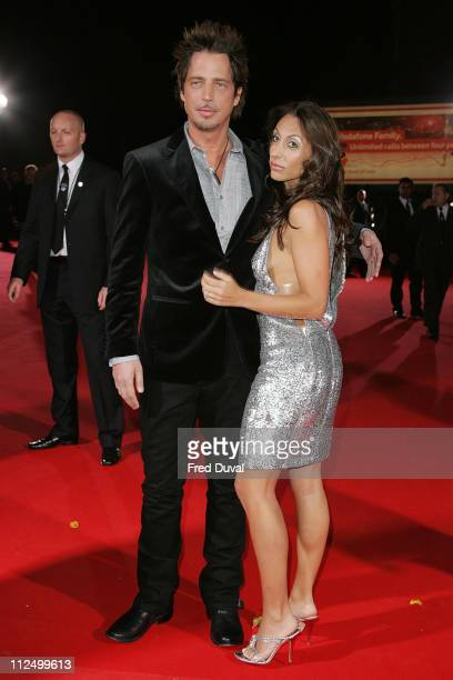 Chris Cornell and guest during 2006 World Music Awards Red Carpet Arrivals at Earls Court in London Great Britain