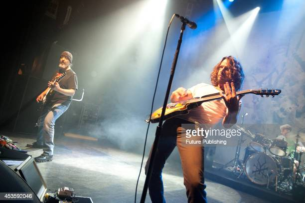 Chris Cornell and Kim Thayil of American rock band Soundgarden performing live onstage at the O2 Shepherds Bush Empire November 9 2012