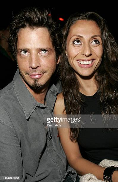 Chris Cornell and Vicky Cornell during Audioslave's Chris Cornell Hosts Party at Marquee September 14 2006 at Marquee in New York City New York...