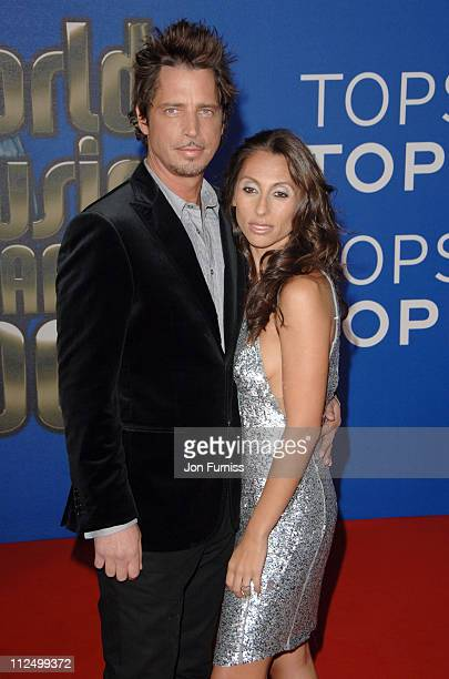 Chris Cornell and Vicky Cornell during World Music Awards 2006 Inside Arrivals at Earls Court in London United Kingdom