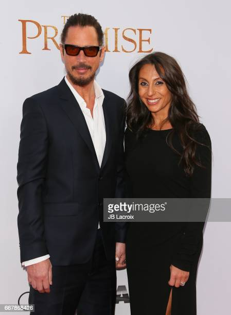 Chris Cornell and Vicky Karayiannis attend the premiere of Open Road Films' 'The Promise' on April 12 2017 in Hollywood California