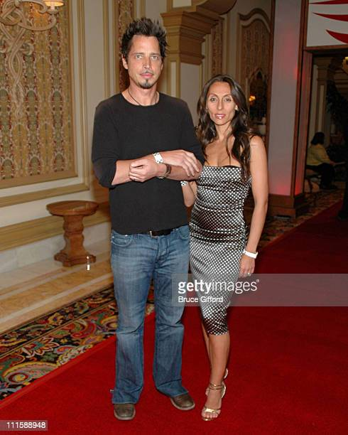 Chris Cornell and wife during Vegas Grand Prix Hosts a StarStudded Charity Gala April 5 2007 at Bellagio Resort in Las Vegas Nevada United States