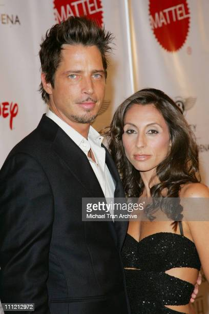 Chris Cornell and wife Vicky Cornell during Wish Night 2006 Awards Gala at The Beverly Hills Hotel in Beverly Hills California United States