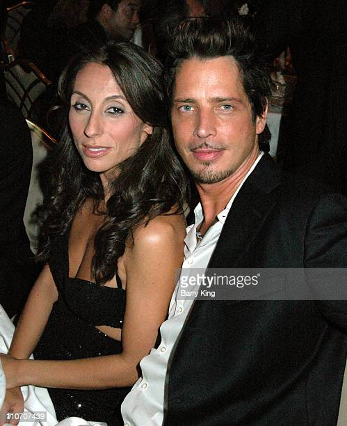 Chris Cornell and wife Vicky Karayiannis during MakeAWish 2006 Awards Gala Inside at Beverly Hills Hotel in Beverly Hills CA United States