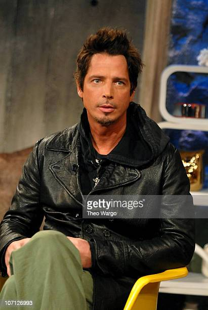 Chris Cornell during Chris Cornell Plain White T's and Deryck Whibley of Sum 41 Visit FUSE's 'The Sauce' April 17 2007 at FUSE Studios in New York...