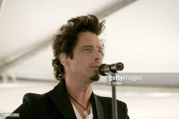 Chris Cornell during The John Varvatos 4th Annual Stuart House Charity Benefit Inside at John Varvatos Boutique in Los Angeles CA United States