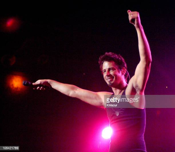 Chris Cornell of Audioslave during Audioslave in Concert at Roseland in New York City April 30 2005 at Roseland in New York City New York United...
