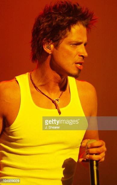 Chris Cornell of Audioslave performs during Audioslave in Concert at the Warfield in San Francisco at The Warfield Theatre in San Francisco...