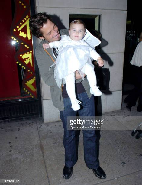 Chris Cornell of Audioslave with his daughter Toni Cornell Photo by Djamilla Rosa Cochran/WireImage for Mitch Schneider Organization