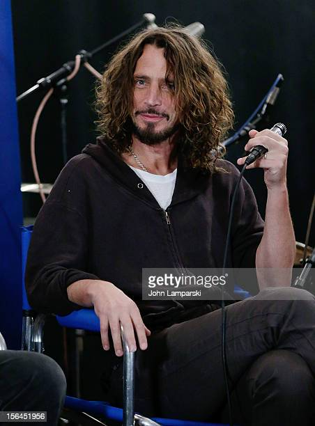 Chris Cornell of Soundgarden attends 'SiriusXM's Town Hall with Soundgarden' with moderator Taylor Hawkins>> at Electric Lady Studios in New York City