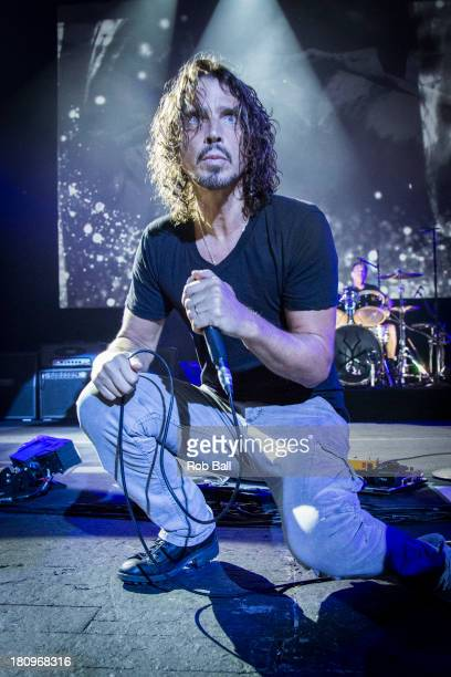 Chris Cornell of Soundgarden performs at Brixton Academy on September 18 2013 in London England