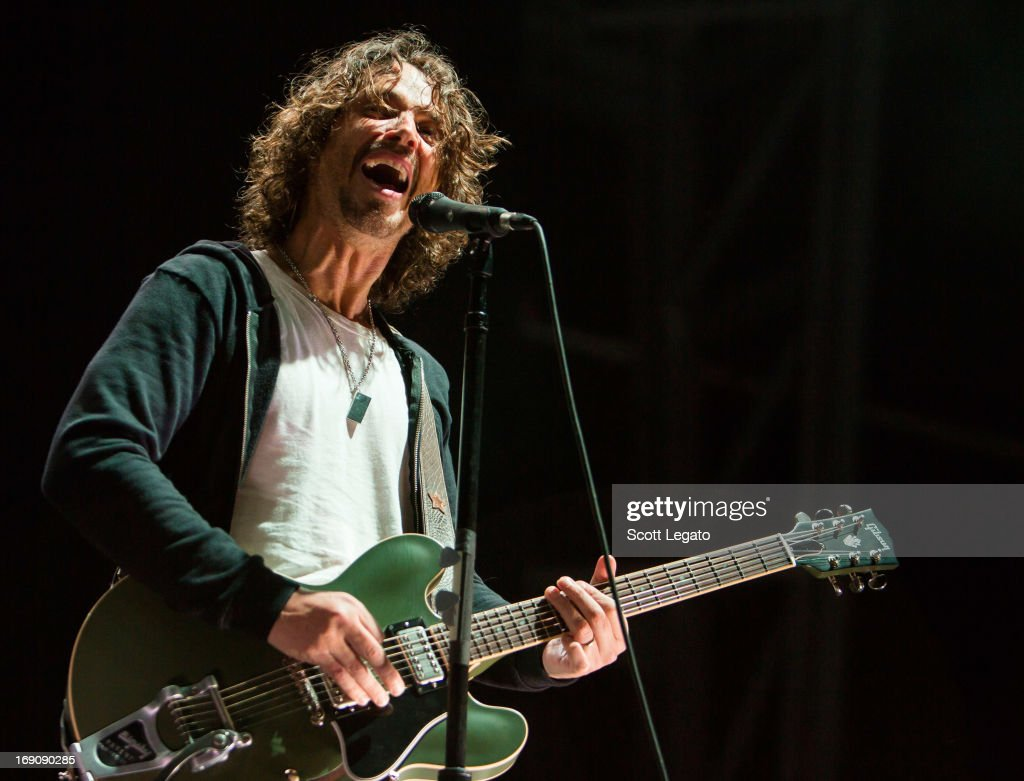 Chris Cornell of Soundgarden performs during 2013 Rock On The Range at Columbus Crew Stadium on May 19, 2013 in Columbus, Ohio.