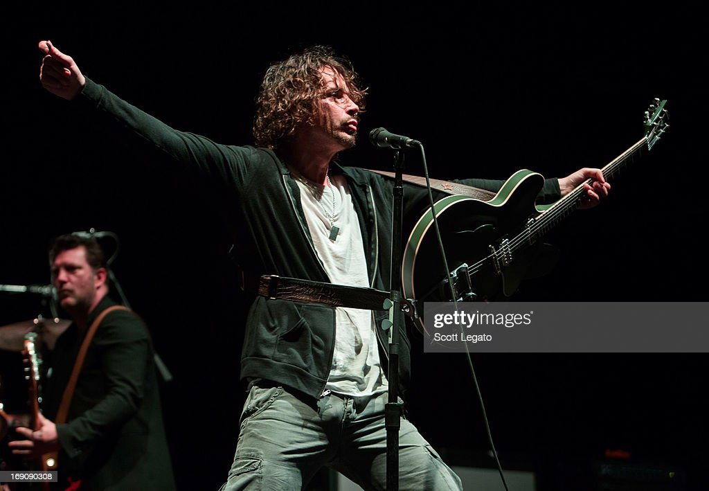 <a gi-track='captionPersonalityLinkClicked' href=/galleries/search?phrase=Chris+Cornell&family=editorial&specificpeople=221615 ng-click='$event.stopPropagation()'>Chris Cornell</a> of Soundgarden performs during 2013 Rock On The Range at Columbus Crew Stadium on May 19, 2013 in Columbus, Ohio.