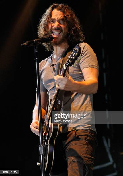 Chris Cornell of Soundgarden performs during Big Day Out on February 5 2012 in Perth Australia