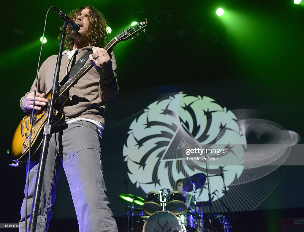 Chris Cornell of Soundgarden performs in support the bands' King Animal release at The Fox Theatre on February 12, 2013 in Oakland, California.